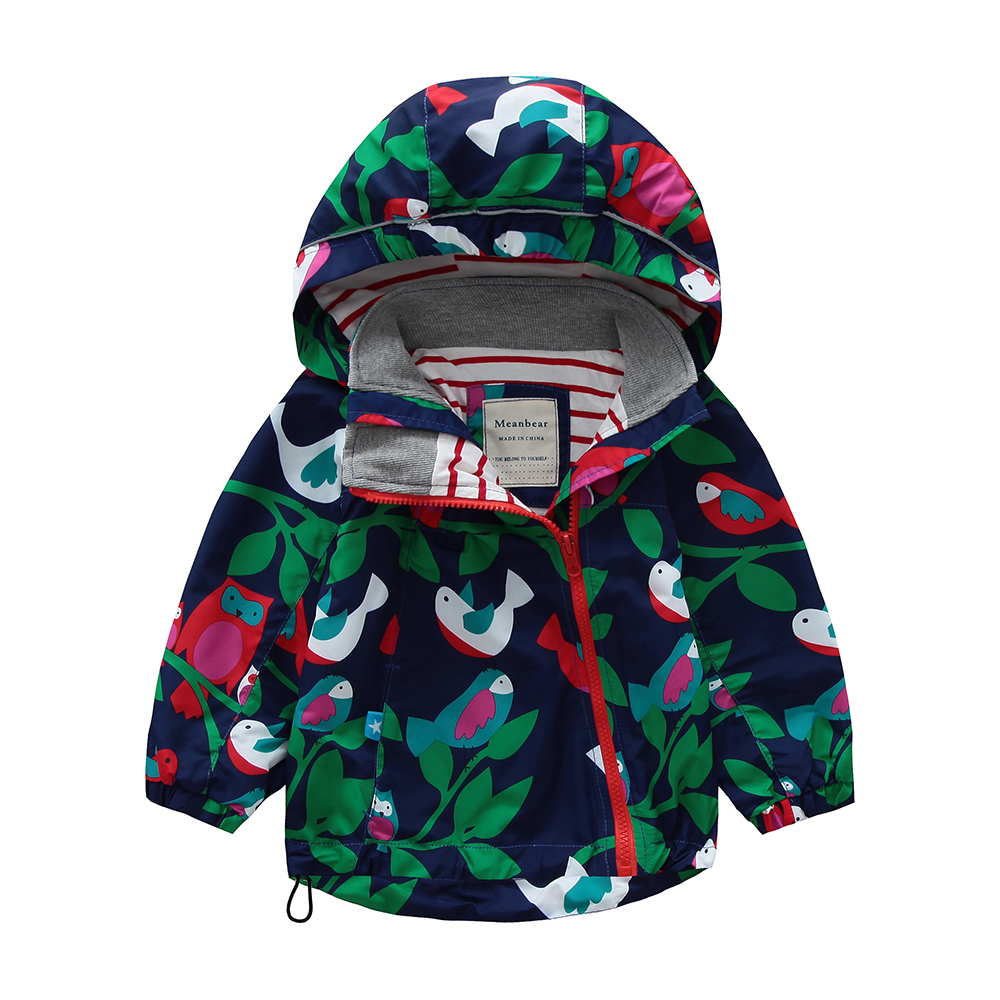 M103 Spring Autumn Fashion Boys Coat Hoodie Child Jacket Girls Tops Windbreaker Cartoon Print Thin Coat Summer Child Thin Jacket letter print raglan hoodie