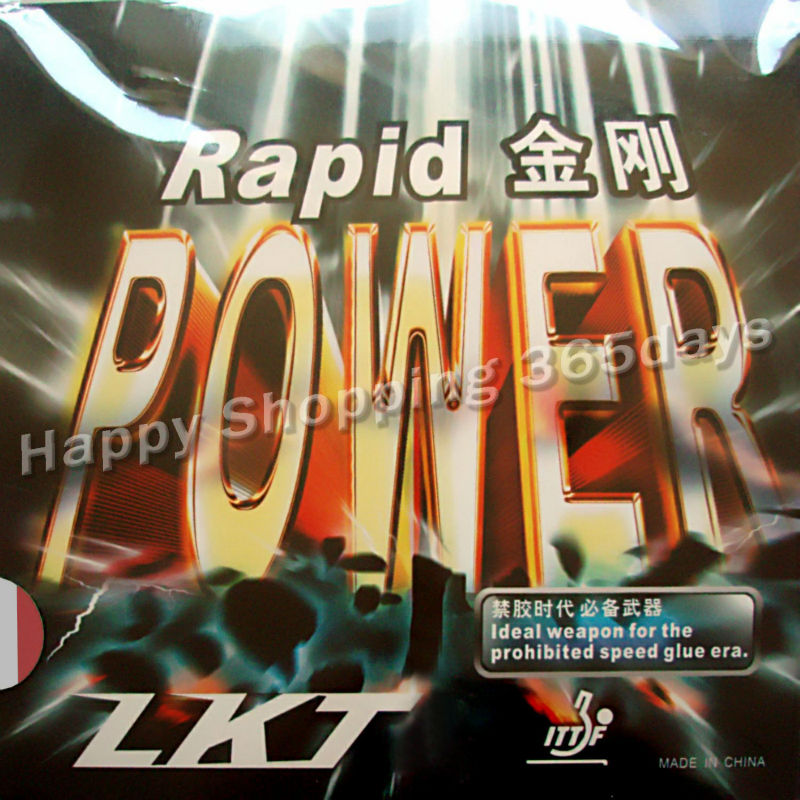LKT Rapid POWER Pips In Table Tennis Rubber With Sponge For Table Tennis Racket Paddle