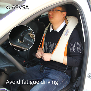 Image 2 - KLASVSA 12 Massage Heads Heating Neck Shoulder Kneading Massager Cervical Therapy Health Care Back Waist Pain Relief Relaxation