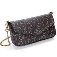 Бесплатная доставка модная женская любимая Высококачественная Холщовая Сумка с монограммой FELICIE pochette маленькая сумка на цепочке сумка на п