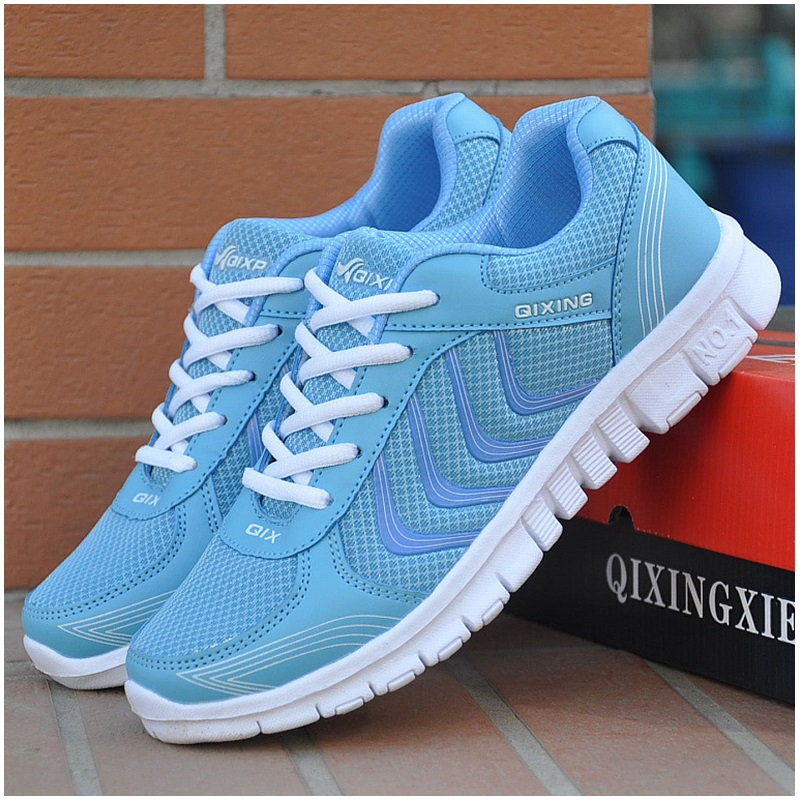 2017 Women Casual Shoes 2016 New Fashion Women Shoes Mesh Shoes Woman With Breathable Blue hot new 2016 fashion high heeled women casual shoes breathable air mesh outdoor walking sport woman shoes zapatillas mujer 35 40