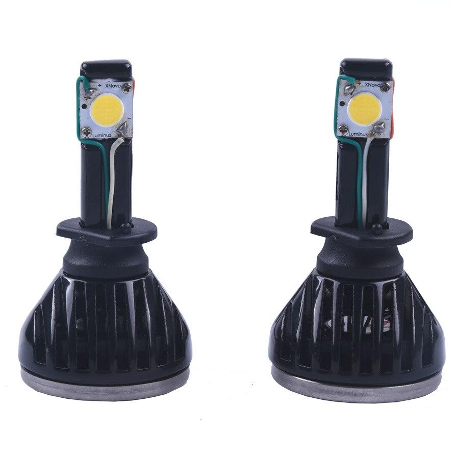 2pcs/lot Led Car Auto Headlight H1 All In One White Bulb for Automotives Headlight Fog lamp DRL with Fan 2200LM 6000k led car auto headlight h7 80w 8000lm 4 cob led all in one white bulb for automotives headlight fog lamp