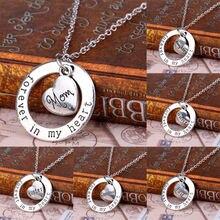 Подарки для членов семьи посеребренное ожерелье с подвеской