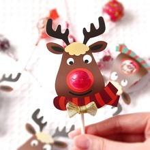 new 50pcs lollipop cover elk design children birthday wedding candy decorate holiday Christmas gift packaging