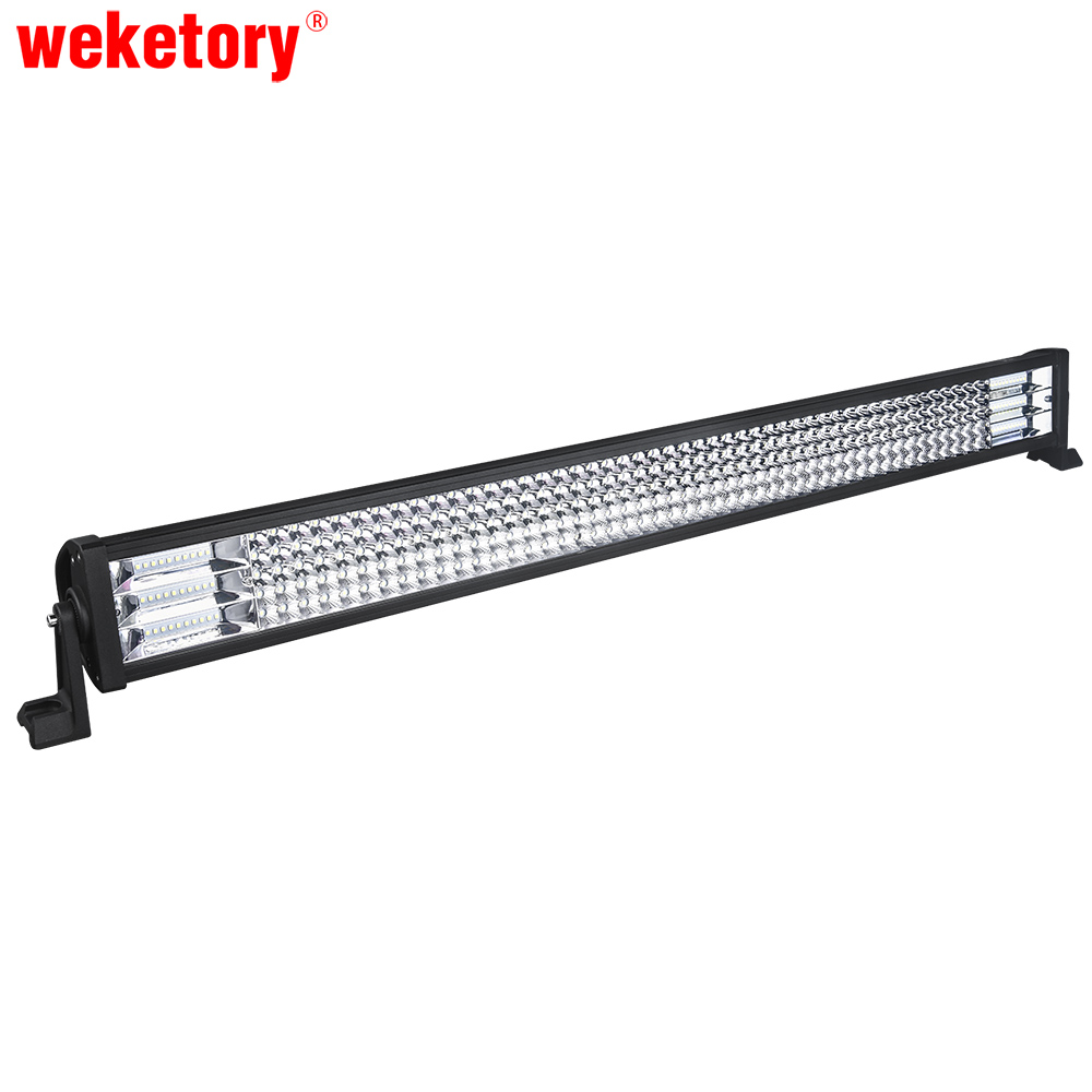 weketory 42 inch LED Work Light Bar for Driving Car Tractor Boat OffRoad 4WD 4x4 Truck SUV ATV Combo Beam 12V 24V 6pcs 12inch 72w offroad led work light bar combo beam 12v 24v for truck suv boat atv 4x4 4wd auto driving light