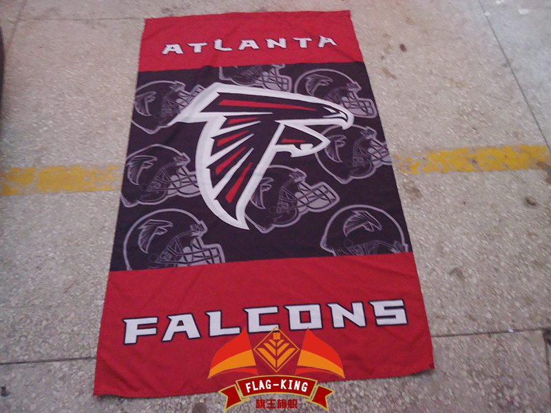 Atlanta Falcons flagking brand football Helmet club flag,Atlanta Falcons polyster banner,90*150 CM