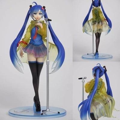 Janpan Freeing Vocaloid Hatsune Miku Anime Figure Singing Rain Miku 2016 Ver. PVC Figure Collection Model Doll Toy 23cm japanese anime doll cute nendoroid hatsune miku mid autumn miku 539 pvc action figure model toy doll 4 10cm