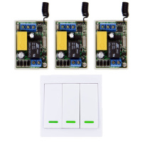 Mini Size 220V 1CH 1CH 10A Wireless Remote Control Switch Relay Receiver 3CH 86 Wall Panel
