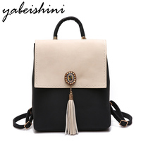YABEISHINI Girl School Bags For Teenagers Women Small Backpack Black Leather Women S Backpacks Fashion