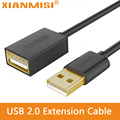 XIANMISI USB 2.0 Male to Female USB Cable Extend Extension Cable Cord Extender For PC Laptop