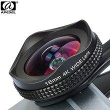 Kit dobjectif caméra APEXEL Pro objectif grand Angle 16mm 4 k avec filtre CPL objectif universel pour téléphone portable HD pour iPhone 7 6 S Plus Xiaomi
