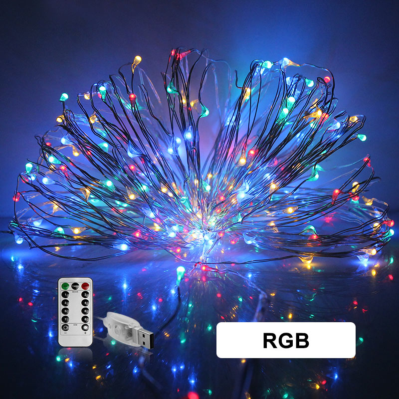 10M USB Led String Waterproof Fairy Light RGB White Blue Christmas Tree Home Garden Party Indoor