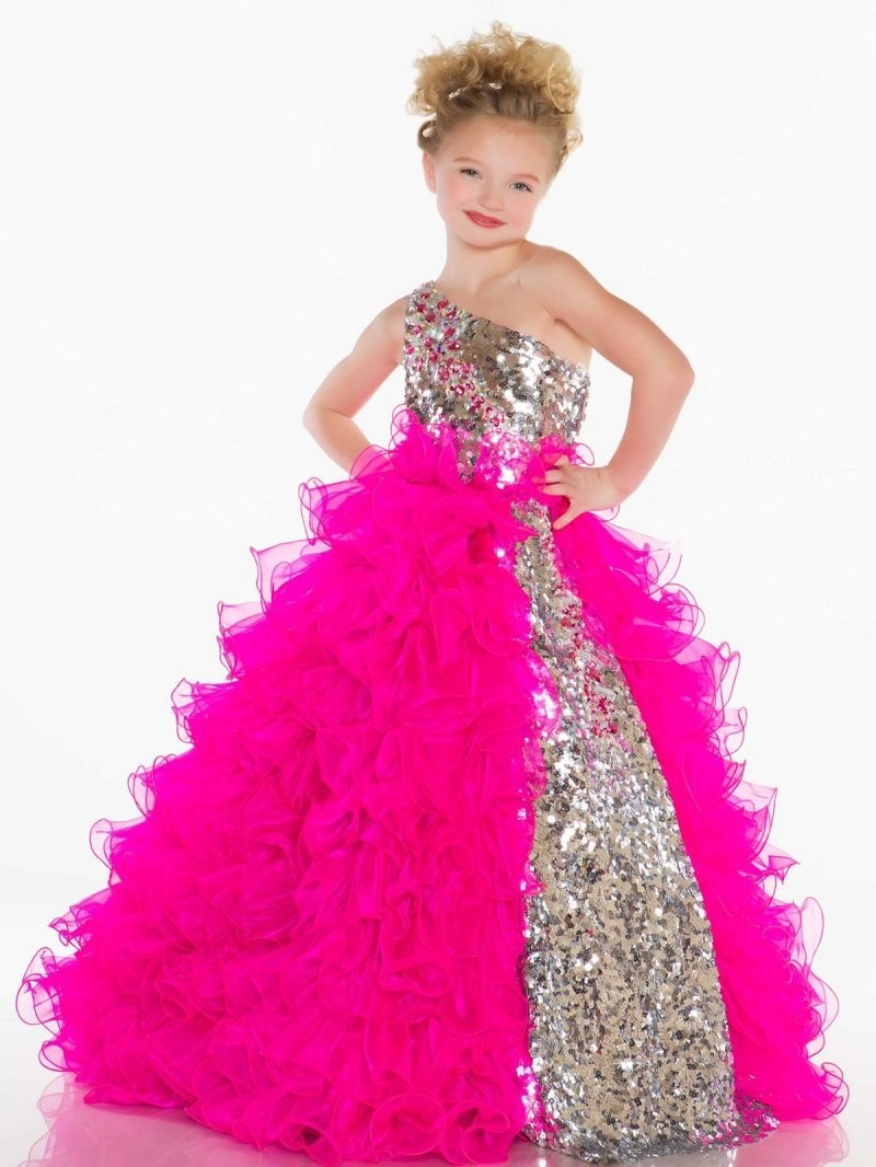 Popular Hot Pink Flower Girl Dresses-Buy Cheap Hot Pink Flower ...