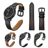 NVPONE 22mm Genuine Leather Watchband For Samsung Gear S3 WatchBand Classic Frontier Smart Bracelet Strap Replacement