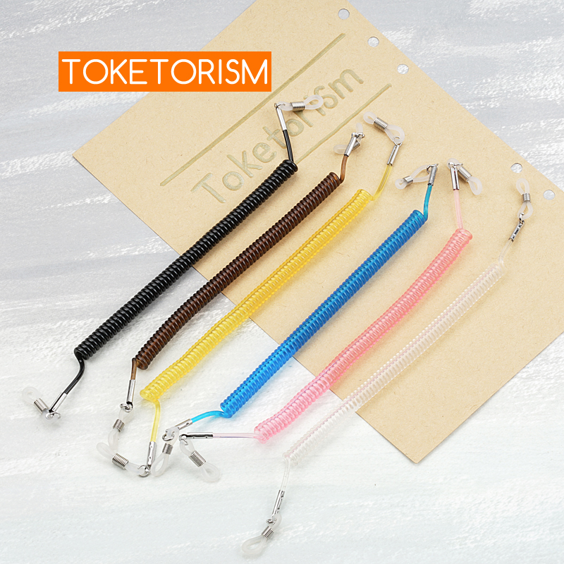 Toketorism Flexible telephone line design vintage chains for glasses fashion eyeglasses string holder sunglasses cord TM18