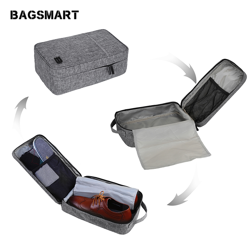 BAGSMART Waterproof Portable Shoes Bag Travel Accessories Bag Pouch Pocket Packing Cubes Handle Bag Tote Bags Fit up to Size 9.5 Shoe Bags