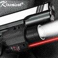 2 В 1 Тактический Лазерный Прицел + Светодиодный фонарик свет Красная Точка Лазеры Для Пистолета Glock Пистолет Glock 19 23 22 17 20 мм Железнодорожных