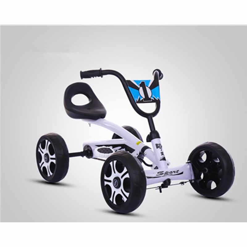 Pé pedal ir kart crianças passeio no carro brinquedo 4 rodas bicicleta empurrar bicicleta para 2-6 anos meninos meninas presentes de aniversário atividades ao ar livre