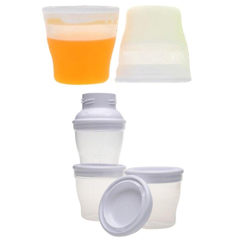 Baby Breast Milk Feeding Food Storage Cups 180ml Cups Seal ...