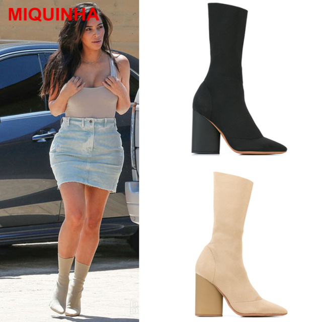 chubby Dress boots calves for