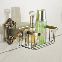 Vidric Antique Copper Brushed Wall Mount Bathroom Basket Shelf Toilet Paper Holder Toilet Roll Holder Bathroom Accessories