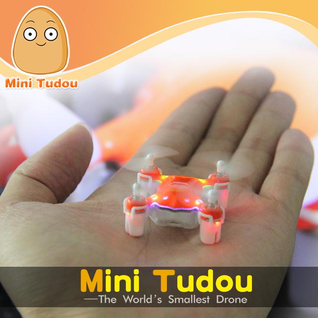 Bolso zangão minitudou toys rc helicóptero de controle remoto 2.4g 4ch quadcopter micro