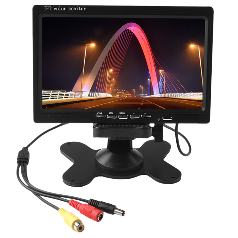 7 inch 800x480 HD TFT LCD Screen Car Rearview Display Backup Reverse System Monitor Support SD for Rear View Camera Auto Parking boguang 20a 12v 24v solar controller mppt system kit solar panel battery light charger led display with dual usb 5v regulator