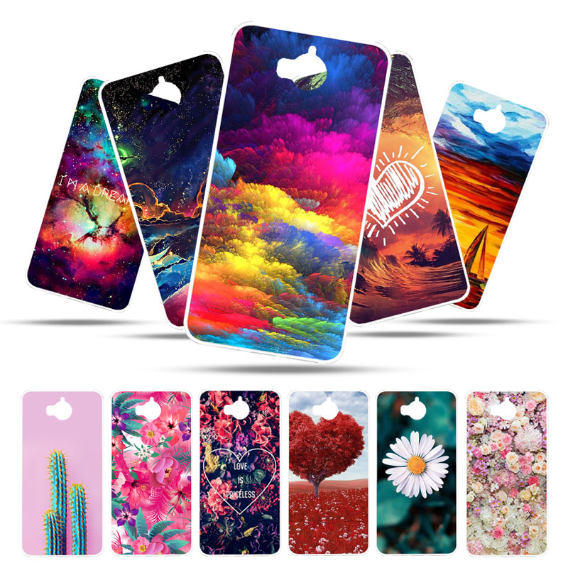 Bolomboy Painted <font><b>Case</b></font> For <font><b>Huawei</b></font> <font><b>Y6</b></font> <font><b>2017</b></font> <font><b>Case</b></font> <font><b>Silicone</b></font> Soft TPU <font><b>Cases</b></font> For <font><b>Huawei</b></font> Y5 <font><b>2017</b></font> Cover Wildflowers Cute Animal Bags image