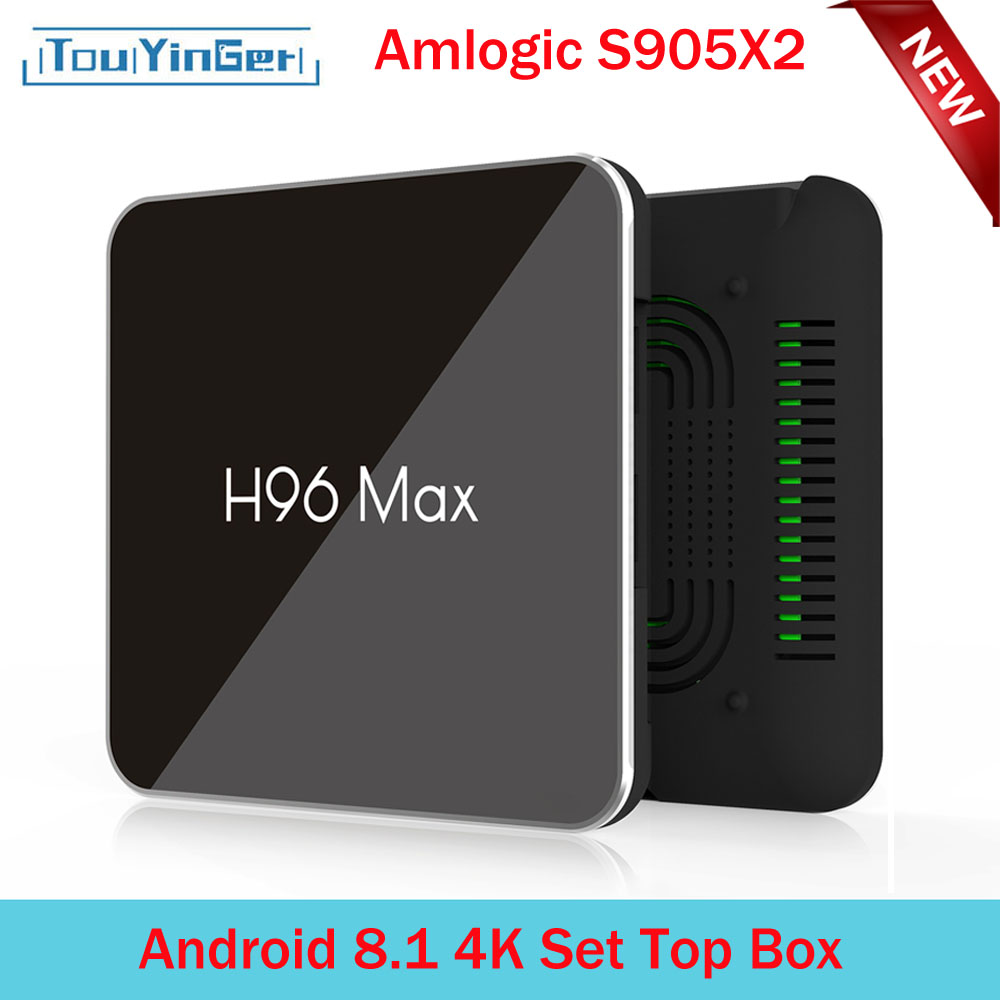 Touyinger 3d-Set Top-Box Play-Store Wifi LPDDR4 Android Amlogic S905x2 H96 Max-X2 4K