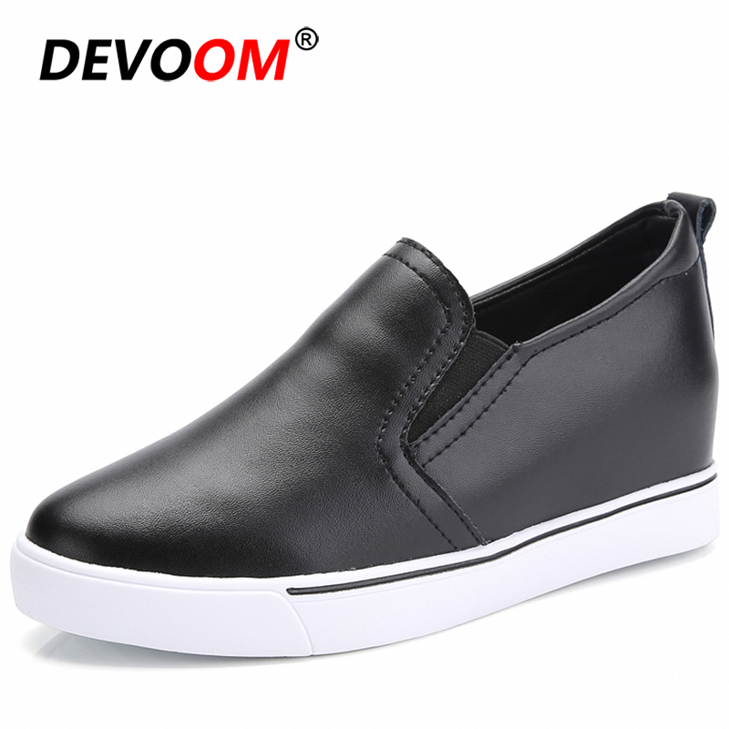 2019 Black Shoes Woman Leather Women Flats Mocassins Femmes Chaussures Women Shoes Flat Womens Loafers Shoes Luxury Brand #34-40 image