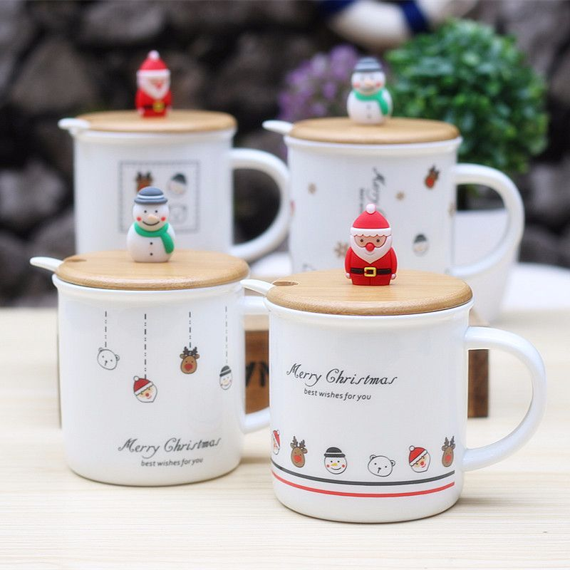 New Creative Cup Little Snowman Christmas Gift Ceramic Cup Christmas Water Cup Milk Coffee Mug Child Gift Office Breakfast Home