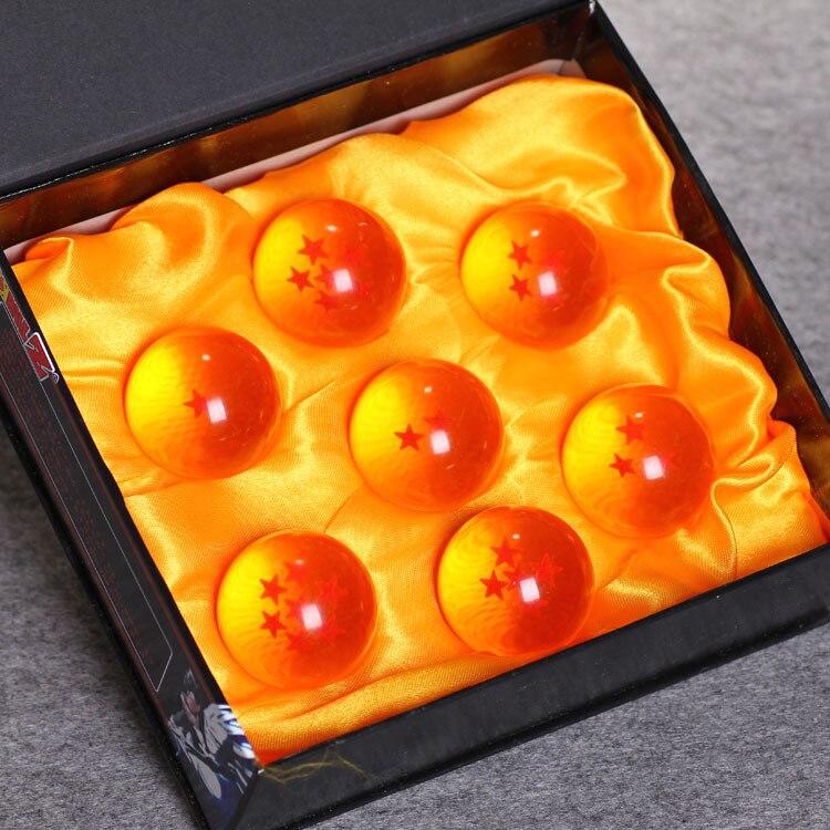 7 Unids/set Figura de Acción de Dragon Ball Z Bolas De Cristal 4 CM Estrella nue