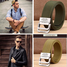 Military Equipment Tactical Belt Men Nylon Fashion Double Ring Buckle Waist Outdoor Sports