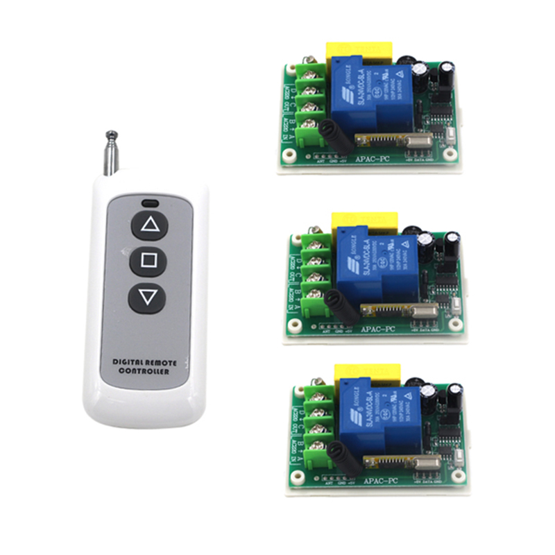 Water pump motor wireless remote control switch 220v single remote control switch 30a high power metal remote control 4082 6 pieces receiver 220v wireless remote control switch lamps water pump motor controller switch remote control switch