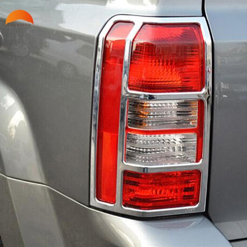 Car Sticker For Jeep Patriot 2007-2017 ABS Chrome Rear HeadLight Cover Trim Molding Garnish Tail light Car Accessories 2pcs