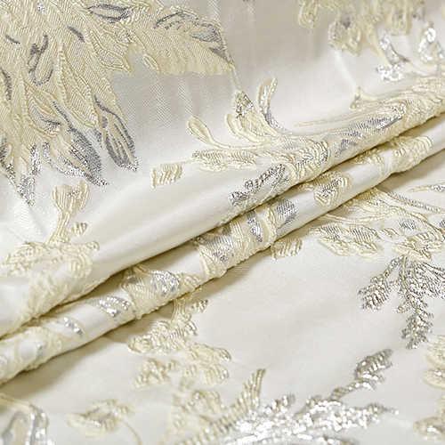 Модный молочно-белый французский жаккард пряжа окрашенная парча ткань для платья Пальто Лоскутная Ткань telas tecido tissu Австралийский метр tela
