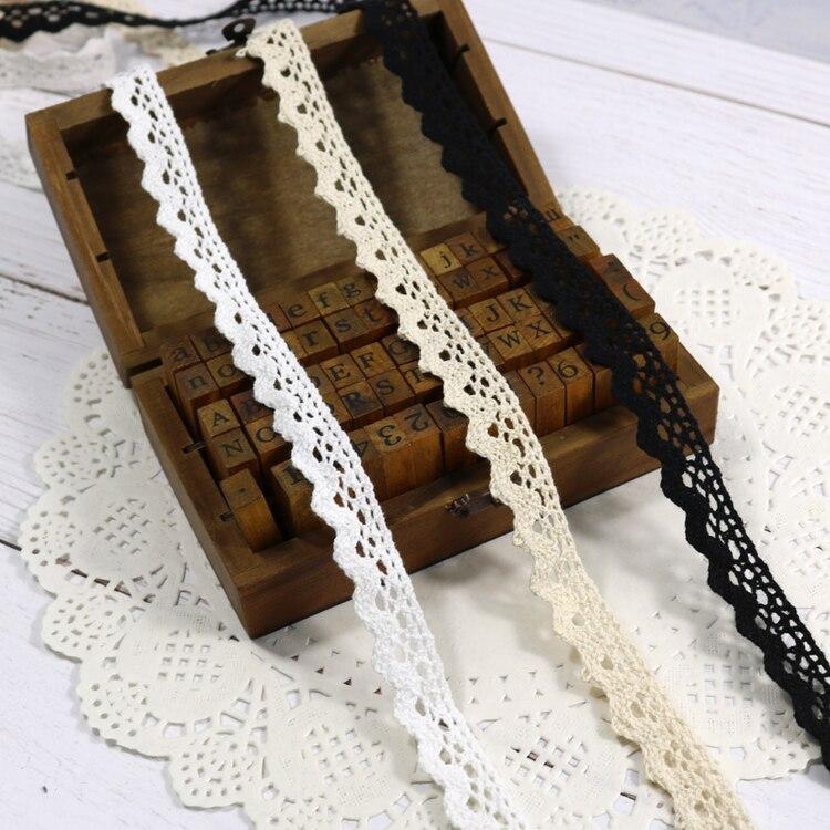 Zakka Стиль хлопковая кружевная лента швейная лента, бежевая Кружевная Сетка, крутая кружевная тесьма(17 мм x 50 ярдов