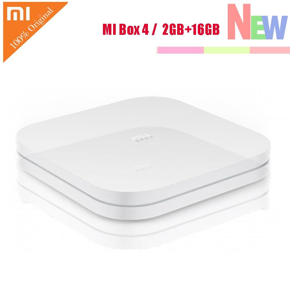 XIAOMI Mi Box 4 Android 6.0 Amlogic CortexA53 Quad Core 64bit 2GB8GB 4K HDR TV Box DTSHD 2.4G WiFi HDMI Chinese Version US PLUG original xiaomi r01 mi wifi amplifier chinese version