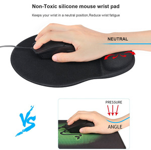 Image 3 - RAKOON Keyboard Wrist Rest Pad Wrist Rest Mouse Pad Memory Foam Superfine Fibre Durable Comfortable Mousepad for Office Gaming