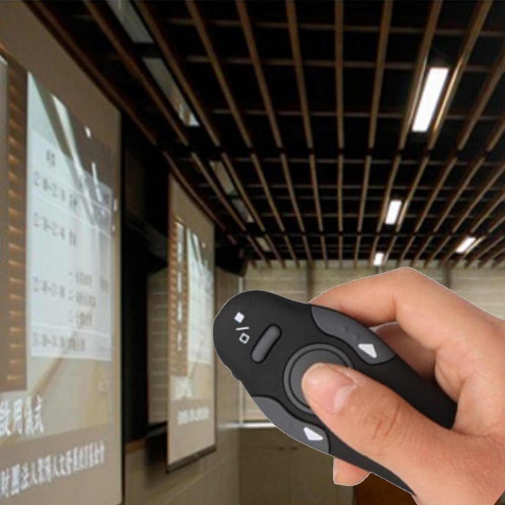 """NOYOKERE Лидер продаж 1 шт. 2,4 ГГц указатель """"rf"""" ручка беспроводной USB мощность точка ведущий дистанционное управление лазер"""