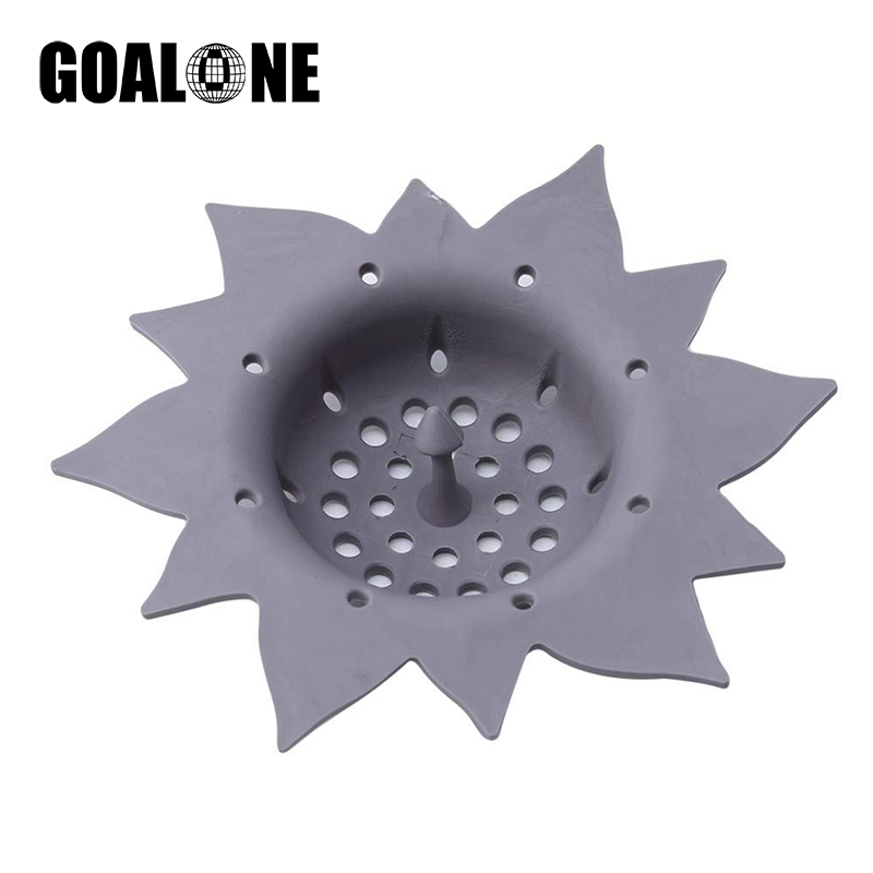 GOALONE Kitchen Sink Strainer Silicone Flower Shape Filter Bathroom Shower Drain Hair Catcher Accessories