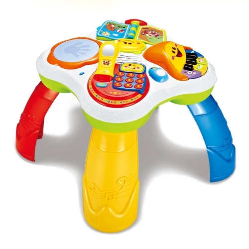 Free Shipping Musical Baby Learning Table Discovering Activity Baby Table Educational Game Toys 100% High Quality Materials Walkers Mother & Kids