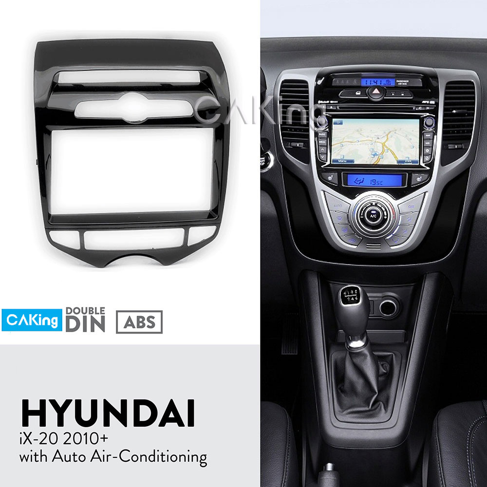 Double Din Car Fascia Radio Panel for HYUNDAI iX 20 ix20 Auto Aircon Dash Kit Facia