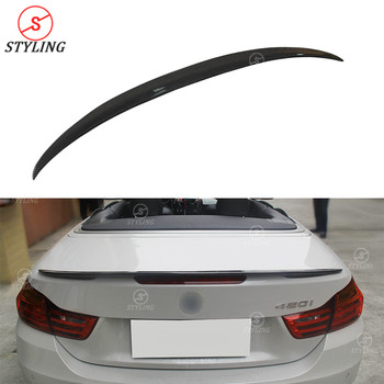 F33 Cabrio Carbon Spoiler P Style For BMW F83 M4 Convertible Carbon Fiber rear spoiler trunk wing 2014 2015 2016 2017 2018 2019
