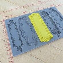 Silikonform fondant formen Vintage Kunst Decor Formen objekt etiketten fünf muster lebensmittelqualität form für kuchen dekorationen