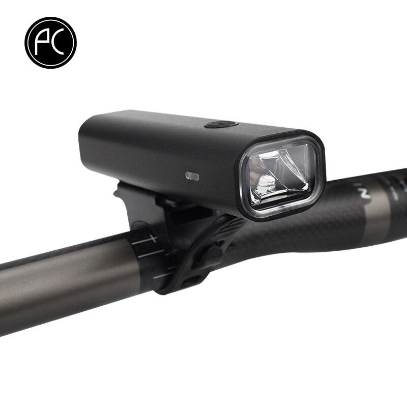 PCycling Vélo Lumière USB Rechargeable En Alliage D'aluminium Étanche CREE LED Vélo Avant Lumière 400 Lumen 3 Modes Vélo lampe de Poche
