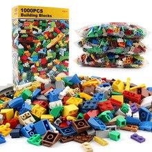 1000Pcs City DIY Creative Building Blocks Bulk Sets LegoINGLs Minecrafted Classic Bricks Baseplate Educational Toys For Children цены