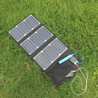 BUHESHUI Portable 27W Solar Charger Folding Foldable Waterproof Solar Panel Charger Power Bank Battery Charger Free Shipping