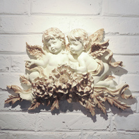 Fashion angel white double flower hangings wall decoration modern decoration