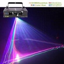 AUCD 3 линзы RGB лазерное сканирование луч линии огни DMX Звук Авто проектор лампа вечерние DJ Вечеринка шоу Главная Professional сценическое освещение H-Q6